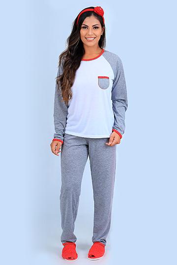 Pijama Feminino de Inverno Raglan